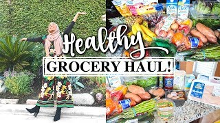 HEALTHY GROCERY HAUL FOR WEIGHT LOSS! / I'M BACK!! | Aysha Abdul