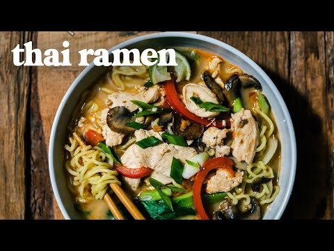 THAI COCONUT RAMEN | Just The Recipe By HONEYSUCKLE