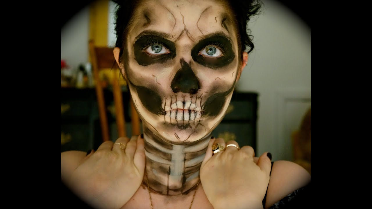 Halloween Skull Makeup - YouTube