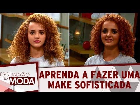 Vanessa Rozan ensina make sofisticada para sair à noite | Esquadrão da Moda (17/02/18)
