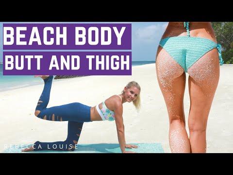 Butt & Thigh Workout - BEACH BODY | Rebecca Louise