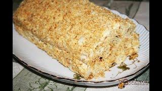 Торт 'Слоеное полено' -  с приготовлением такого торта справится даже ребенок