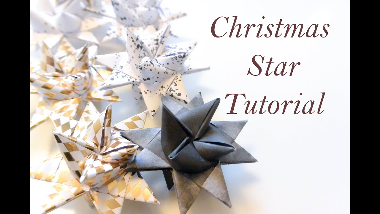 Diy star origami ornament origami star - Diy Christmas Star Paper Folding Moravian Froebel Star Christmas Decor Or Ornament Youtube