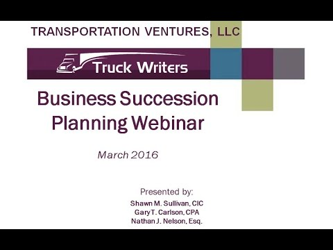 Protecting Continuity of Ownership with Transportation Succession Planning