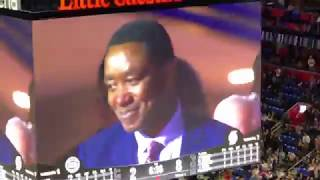 Isiah Thomas Gets Emotional After Video Tribute - Scoreboard Quality Video :-(
