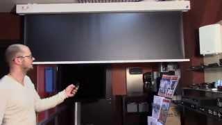 Демо-зал Vega, проекционные экраны MW