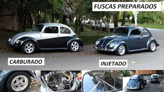 Garagem do Bellote TV: Fuscas preparados (HIS e Weber 40)