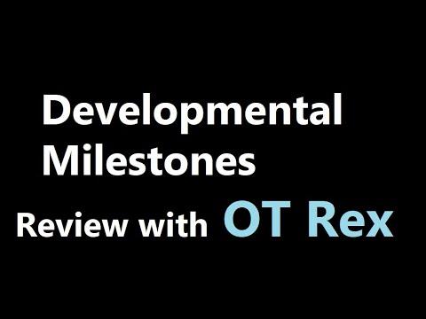 OT Rex Developmental Milestones Ages 2 months 5 years