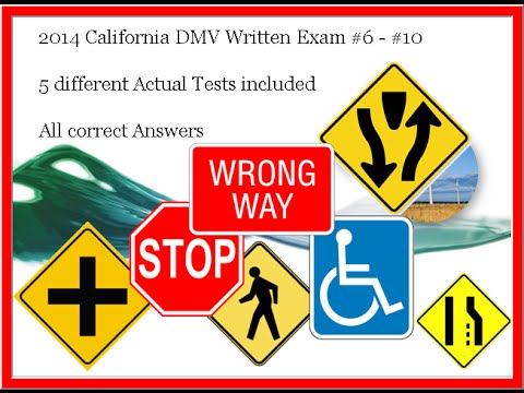 2018 California DMV written tests - 5 different tests #2 - YouTube