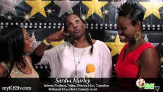 Comedian Sardia Marley chats with myKEEtv @ MB Caribbean Comedy Series