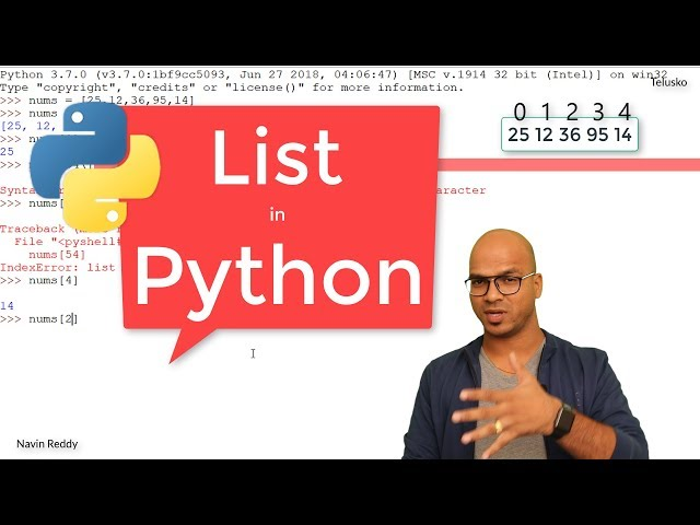 #5 Python Tutorial for Beginners | List in Python
