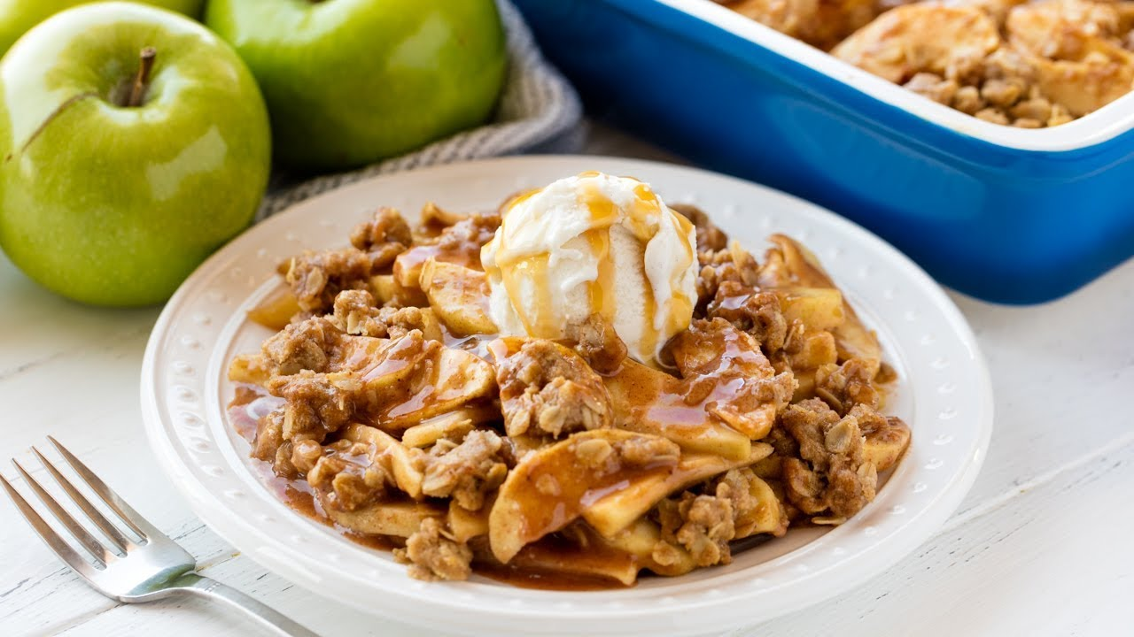 Download How to Make The Best Ever Apple Crisp | The Stay At Home Chef