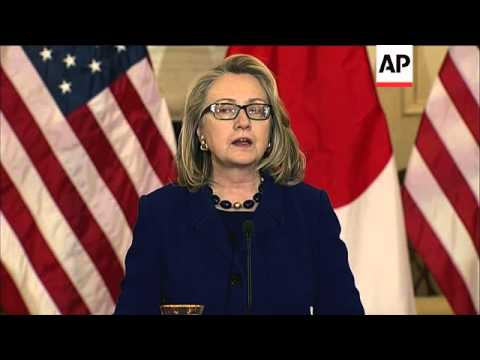 Hillary Clinton comments on Algeria,  Japanese FM on island dispute