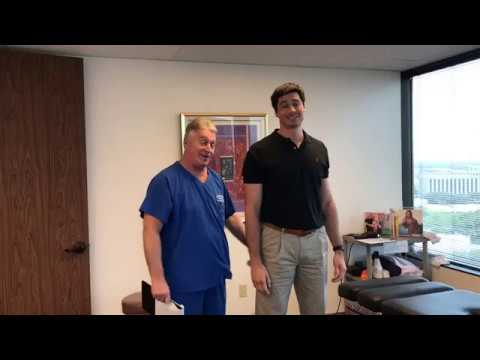 """Very Tall 6', 6"""" Houston Man Gets First Adjustment at Advanced Chiropractic Relief"""