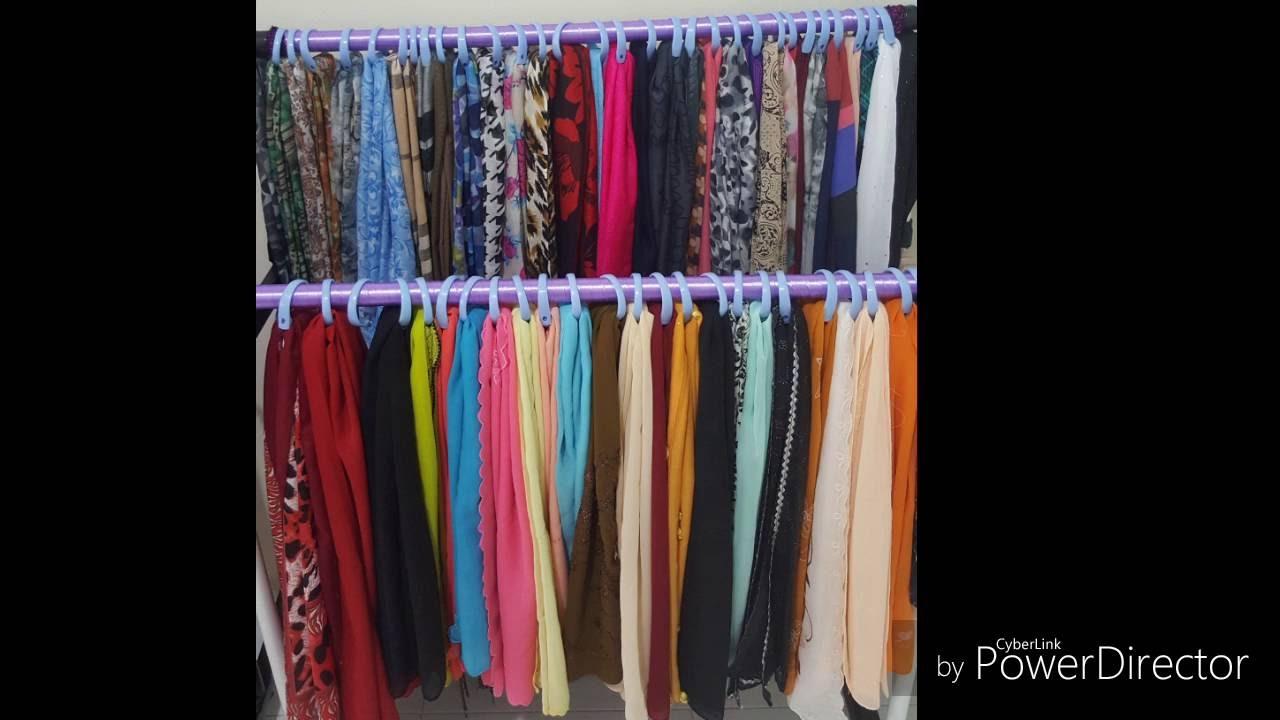 0a8a64c806d Hijab Scarfs DIY Organizer Ideas - YouTube