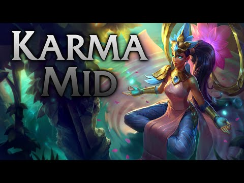 League of Legends | Order of The Lotus Karma Mid - Full Game Commentary