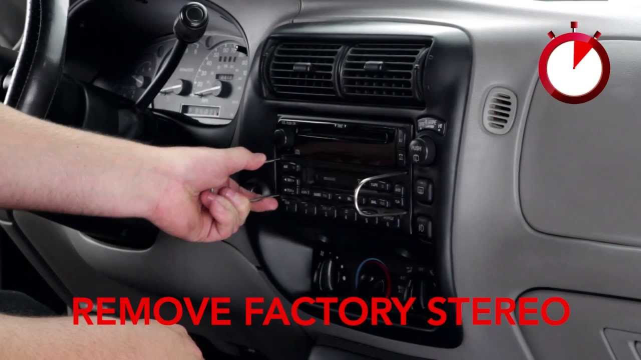 hight resolution of basic installation of an aftermarket stereo into a ford vehicle