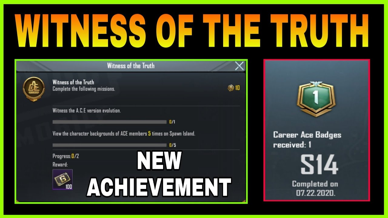 Download WITNESS OF THE TRUTH PUBG MOBILE NEW ACHIEVEMENT    HOW TO COMPLETE WITNESS OF THE TRUTH ACHIEVEMENT