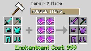 Minecraft UHC but I used MODDED armor and items...