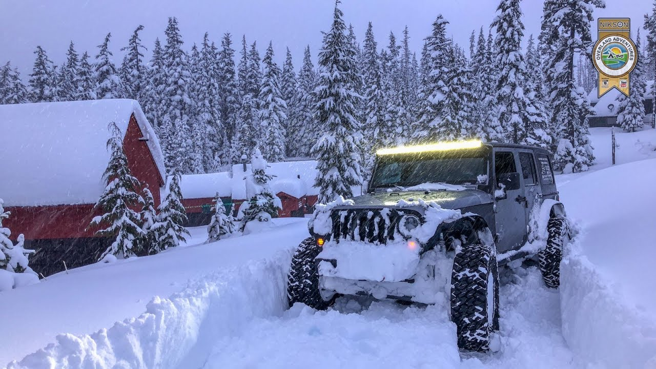 Jeep In Snow >> Oregon Snow Wheeling Jeep Deep Powder Nikson Overland