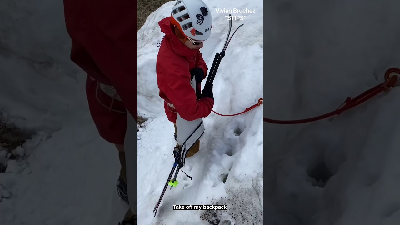 Comment chausser ses skis en pente raide, Vivian Bruchez