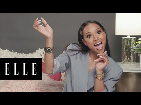 Karrueche Tran Cracks Up at Her Fans' Funniest Tweets | #ThirstTweets | ELLE thumbnail