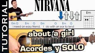 About A Girl guitarra y solo  Aprende a tocar Nirvana Como tocar guitarra facil