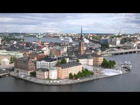 Stockholm City Hall in 4K from above as well as from Södermalm