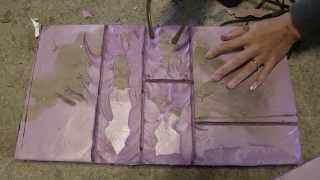Carving Pink EPS Foam to Look Like Ancient Stones With Nikki!