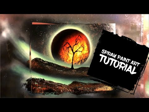 Spray Paint Art Tutorial Fire Tree - By Aerosotle thumbnail