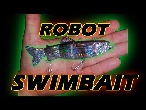 Motorized Jointed Swimbait - Automatic Swimming Robot Lure