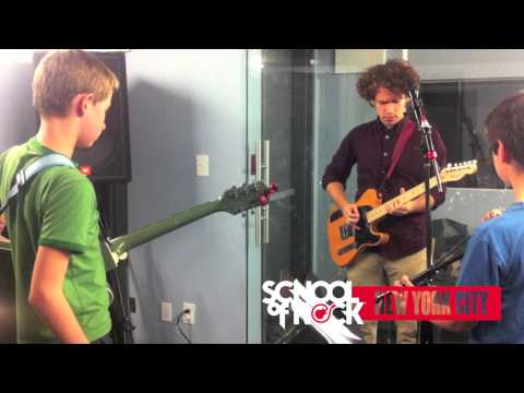 Andrew Savage of Parquet Courts and NYC School of Rock Kings of Brooklyn cast 11.07.13