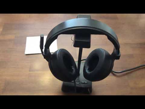 Headphone Stand with 4 USB Charger and 2 Outlet Desktop Headset Holder Hanger Bracket Review, Very H