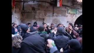 In 2010, Ashura Day in front of the Sayyidah Ruqayya Mosque,Damascus.AVI