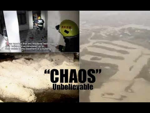 CC Update: Flood destroys 80% of a City! | *WAIST DEEP* hail in SW China & Flood