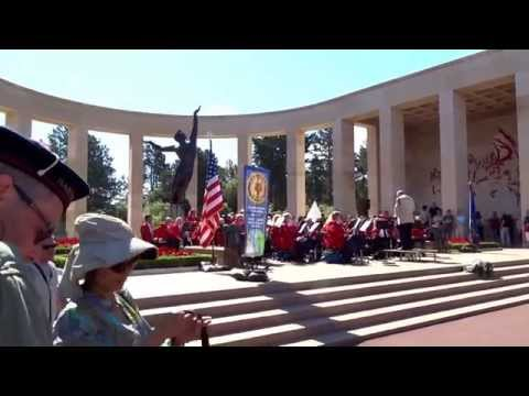 American Legion Band Holland, Michigan, USA, At The American Cemetery At Omaha Beach Normandy