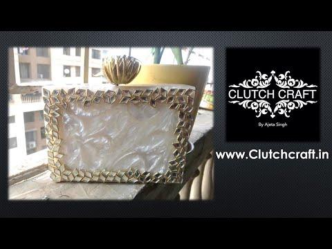 Resin Clutch| Lotus nob | available at  www.Clutchcraft.in |  AJETA SINGH