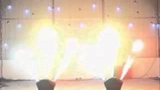DMX Triple Fire machine