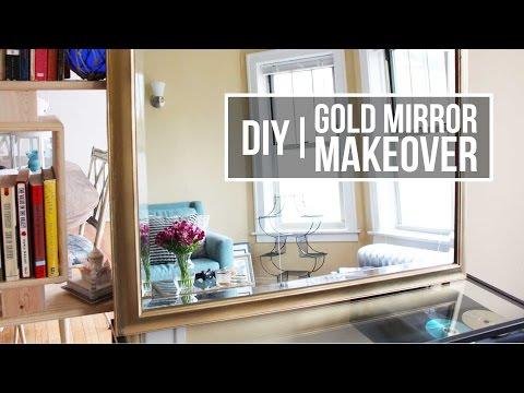 DIY | Gold Mirror Makeover