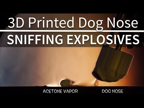 3D Printed Dog Nose Improves Detection of Explosives Source