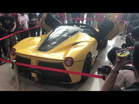 Ferrari La Ferrari Aperta indoor rev in Malaysia