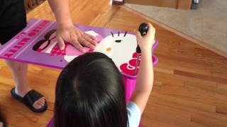 Hello Kitty Toy Bin Organizer for kids - assembly