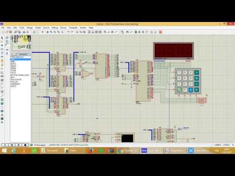 Calculatrice a base du Intel 8086 (programmation assembleur et simulation ISIS)