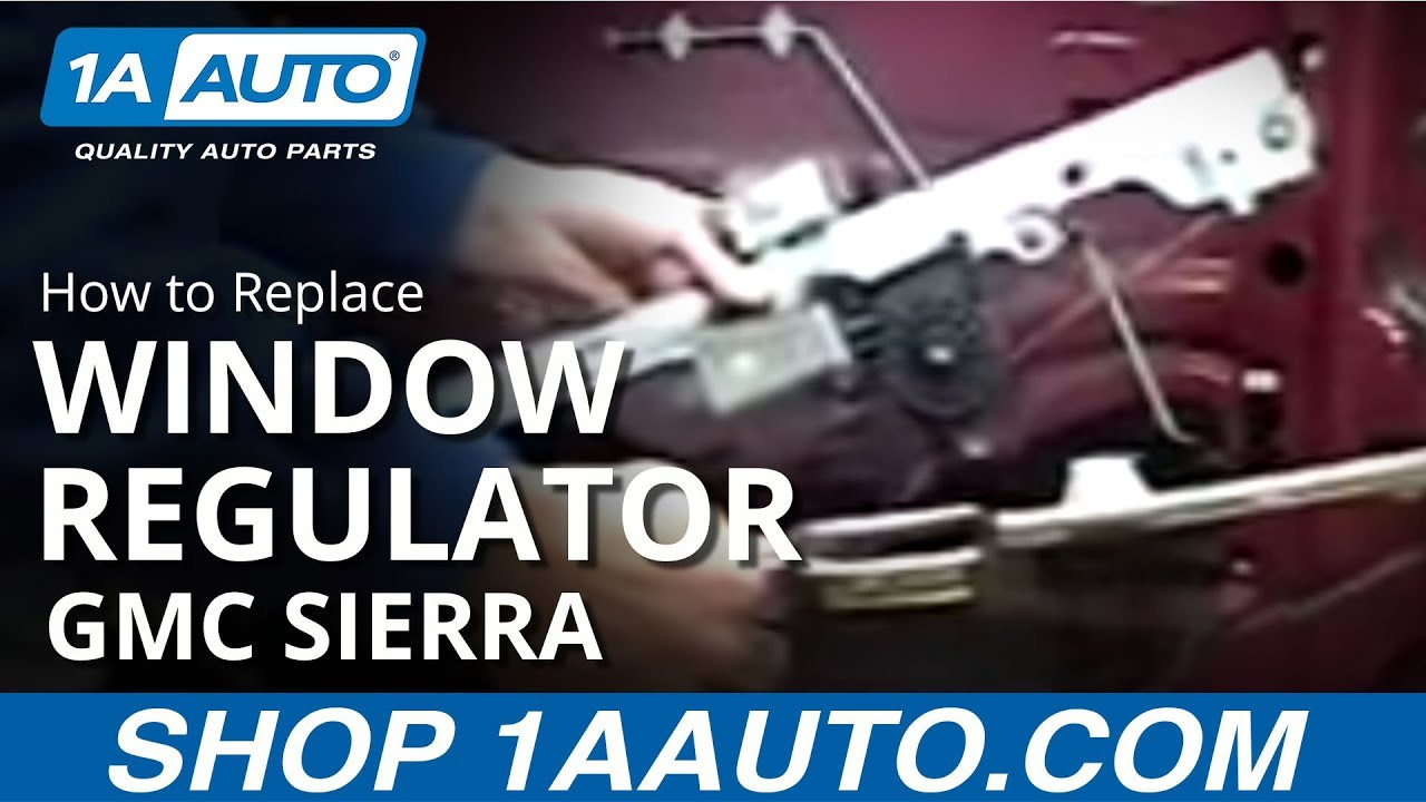 How To Install Replace Power Window Regulator Chevy Silverado Gmc For A 2003 Suburban Wiring Diagram Sierra 03 06 Auto Parts 1aautocom