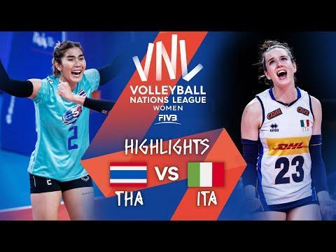 THA vs. ITA - Highlights Week 5   Women's VNL 2021