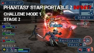 "Phantasy Star Portable 2 Infinity: Challenge Mode, Stage 2 ""Twin Foes"" Multiplayer"