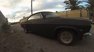 1965 impala ss 6.0 swap first video gopro