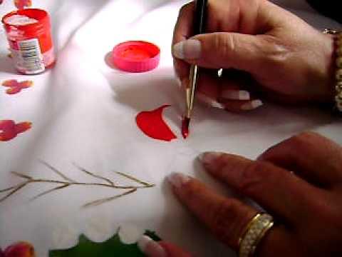 Pintura en tela navide a 1 youtube - Pintura en tela motivos navidenos ...