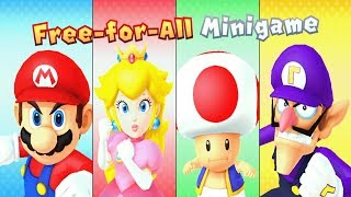Mario Party 10 Mushroom Park All Mini Games All Boss Battles (Mario Party 10 - All Minigames)