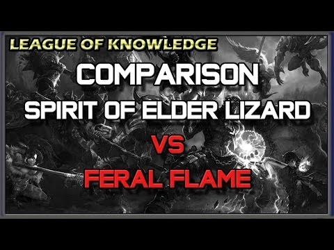 ✔ Comparison - Spirit of the Elder Lizard VS Wriggle's Lantern (Feral Flare) | League of Legends